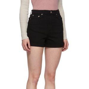 Rag & Bone black high rise shorts 🖤